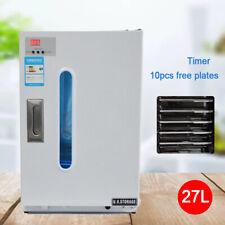 Used 27l Digital Dental Uv Sterilizer Disinfection 10 Free Plates Medical