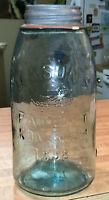 Mason patent Nov 30th 1858 Pre 1900 Fruit Jar With Original Lip Top!!
