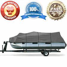 "Premium 600D Pontoon Boat Cover For 25' - 28' Long 114"" Beam Motorboat Powerboat"