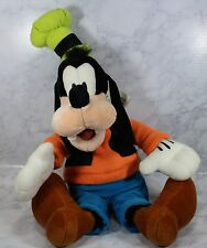 "Disney World Land Theme Parks GOOFY PLUSH 23"" Stuffed Doll WDW Orange Shirt NWT"