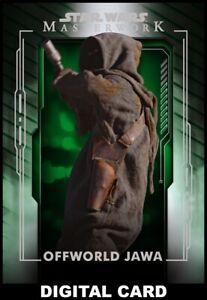 Topps Star Wars Card Trader MASTERWORK Wave 3 GREEN BASE Offworld Jawa