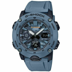 Casio G-Shock Carbon Core Guard Blue Camo Dial World Time Watch GA-2000SU-2A
