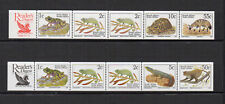 faune RSA Afrique du Sud South Africa 1996 2 bandes 10 timbres neufs /FDCa147