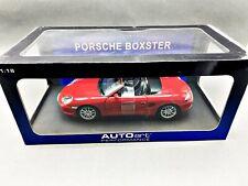 1:18..AutoArt--77871 Porsche Boxter 986 Cabriolet Facelift indish red /  7 A 371