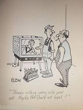 """Clifford Lewis """"angolo di scotta"""" Originale Penna E Inchiostro CARTONE ANIMATO-TELEVISIONE TV Riparazione MAN #440"""