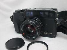 CONTAX G2 35mm Rangefinder Camera Black Body & 45mm F/2 Lens Set From Japan