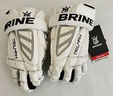 """NEW Brine Triump 3 Black White Medium 12""""  Lacrosse Gloves"""
