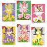 36 Flower Fairy Greetings Cards, Die-cut with Glittered Wings EC0031