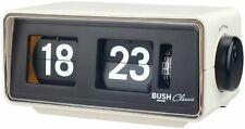 Bush Classic Flip Radio Alarm Clock - Cream.(EX-DISPLAY ITEM)