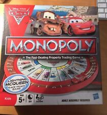 Cars 2 Monopoly Race Track Trading Game Complete Disney Pixar