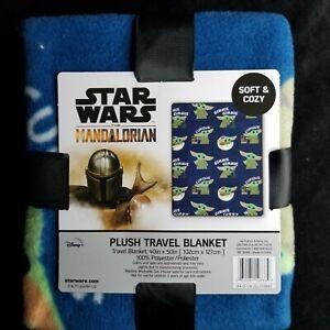 "Star Wars The Mandalorian Baby Yoda The Child 40"" X50"" Plush Blanket Disney"