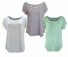 Marks & Spencer Linen Striped Baggy T Shirt Top Ladies NEW
