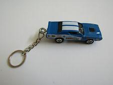 1971 Dodge Charger Hawaiian Nhra Drag Car Diecast Model Keychain Dark Blue