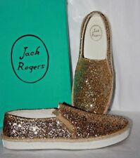 8790c1175c8 Jack Rogers Tucker Gold Sparkle Loafers Women s Size ...