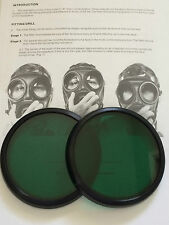S10 GAS MASK  RESPIRATOR GREEN LENSES OUTSERTS