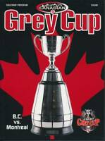 2000 CFL Grey Cup Program  B.C. Lions vs Montreal Alouettes  in Calgary