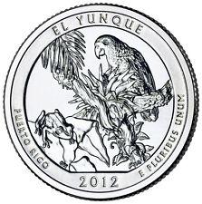 QUARTER DOLLAR DES ETATS-UNIS 2012 P - EL YUNQUE NATIONAL FOREST