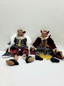 """Vintage Kasma Limited Porcelain Royal Queen King Cat Doll Dolls Jointed Hips16"""""""