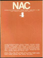 NAC ARTE CONTEMPORANEA APRILE 1974 N. 4 ARTE RUSSA MATROIANNI VERONESI