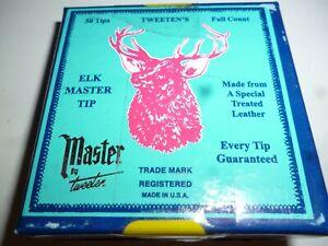 cue tip quality elkmaster - 9mm or 10mm - snooker pool cue tip