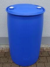 Fass Tonne Wasserfass Regenwasserfass Spundfass 220 Liter blau Kunststoff