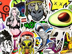 66 Cool Pop Art Graffiti Stickers For Guitar Teen Guys Men Male #BJ
