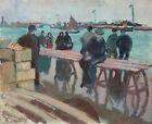 FRAMED CANVAS Art print giclee raoul dufy les pecheurs fishermen painting