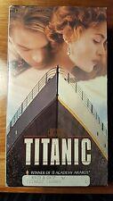 TITANIC Leonardo DiCaprio, Kate Winslet VHS Movie Box -2 Tapes 1997 - 11 Awards