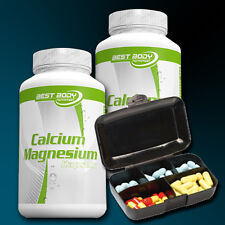 (9,52€/100g) Best Body Nutrition Calcium Magnesium 2 x 100 Kapseln + Pillenbox