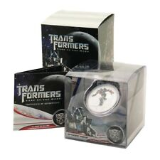 Tuvalu Transformers Dark of the Moon Optimus Prime $1 2011 Proof Silver Coin Min