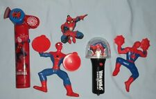 SPIDERMAN Light-Up Spinner, Fan & 2 Action Figures [4 Toys]