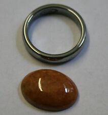 Natural Oval Grande Jade Rojo Piedra Preciosa Gema Cabujón de 11.4 CT JA29A 13X18MM Suelto