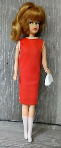 Vintage 1963 American Character Tressy Doll Original Red Dress Growing Hair