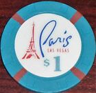 Old $1 BALLYS PARIS Casino Poker Chip Vintage Antique H/C Mold Las Vegas NV 1999