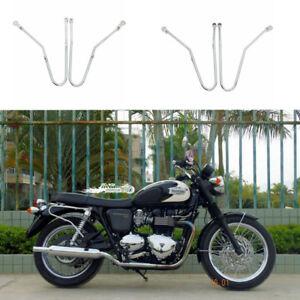 Chrome Saddle Bag Support Guard Luggage Rack Fits Triumph Bonneville SE T100