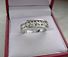 14k white gold diamond  anniversary / ring/ band 5.0 gr size 6.25