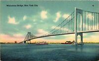 Vintage Postcard - Posted 1942 Linen Whitestone Bridge  New York NY #3399