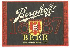 Berghoff Dortmunder Beer label, Irtp, U-Permit, Fort Wayne, Indiana, 1930s