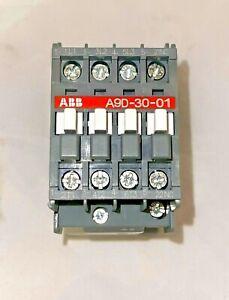 ABB 3 POLE 110V 50HZ / 110-120V 60HZ IEC RATED CONTACTOR A9D-30-01 A9-30-01