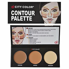 City Colour Color Face Contour Kit Palette Contouring Bronze Bronzer Highlighter