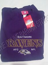 NFL AFC Football Cotton Sweatshirt Pull Over Game Day Baltimore Ravens XL Purple