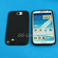 Black Gel Silicon Skin Cover Case for Samsung Galaxy Note II,Note 2, E250S