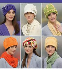 Simplicity 2494 Misses' Fleece Hats in 3 Sizes (S,M,L) Pattern