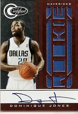 2010-11 Panini Totally Certified Dominique Jones Signed Autograph Rookie Card 99