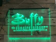 More details for buffy the vampire slayer light up sign - led lighting with neon effect