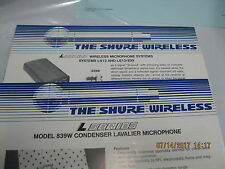 shure wireless ls13 ls13/839 manual shure 839w lavalier mic manual