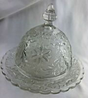 Vintage INDIANA TIARA SANDWICH GLASS CLEAR DOMED BUTTER DISH