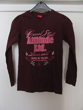 Magnum Teens Mädchen Shirt Gr. 146-152 langarm bordeaux mit Stickerei T-Shirt