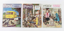 Saturday Evening Post Magazines Lot of 3 from 1944 1948 1959 Vintage Issues