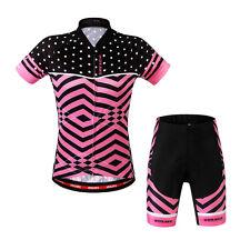 Sports Riding Bicycle Bike Cycling Women Clothing Short Sleeve Jersey Shorts Set